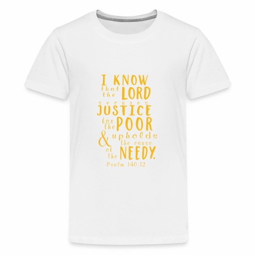 Psalm140 12 Justice - Kids' Premium T-Shirt