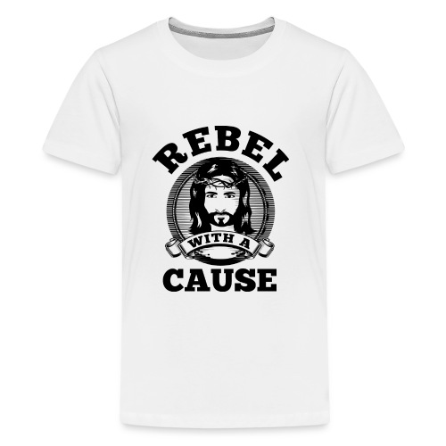 Rebel with a cause BLACK CLEAN SKIN print - Kids' Premium T-Shirt