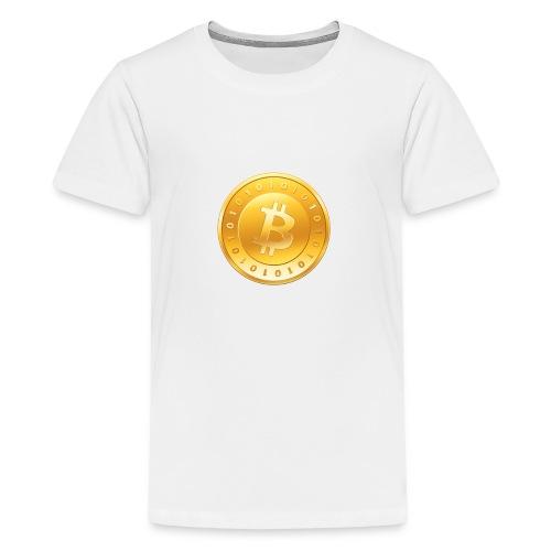 Bitcoin Coin Logo - Kids' Premium T-Shirt