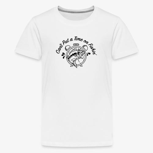Black Logo -- Clock and Fish - Kids' Premium T-Shirt