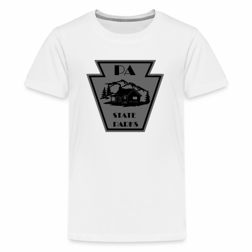Keystone with Cabin Black and Grey - Kids' Premium T-Shirt