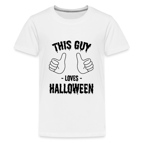 This Guy Loves to Party on Halloween - Kids' Premium T-Shirt