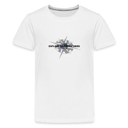 ExploreYourGreatness black logo - Kids' Premium T-Shirt