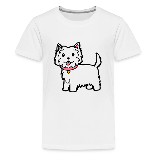 Cute Westie Dog - Kids' Premium T-Shirt