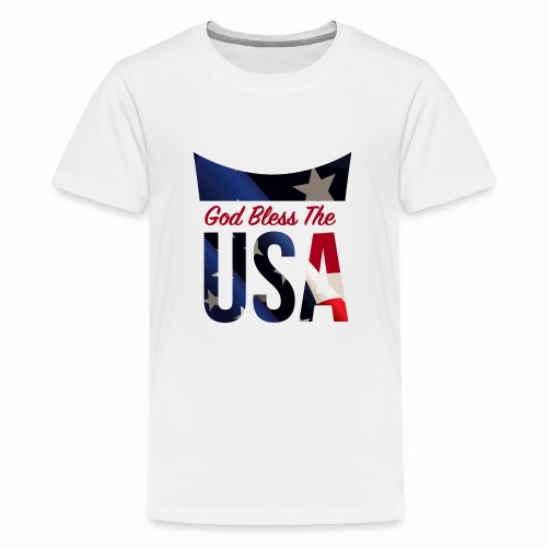 God Bless The USA Veterans T-Shirts - Kids' Premium T-Shirt