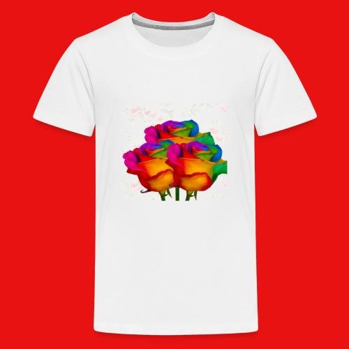 Rainbow Roses - Kids' Premium T-Shirt