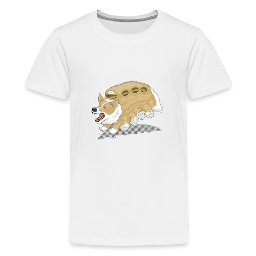 Corgbus: Jump inside for a Very Furry Ride. - Kids' Premium T-Shirt