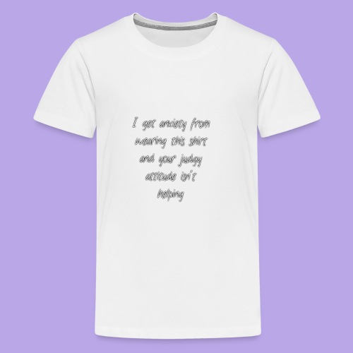Anxiety W/O quote - Kids' Premium T-Shirt