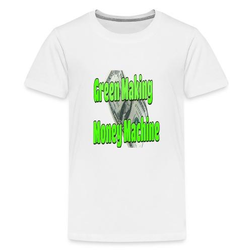 Green Making Money Machine - Kids' Premium T-Shirt