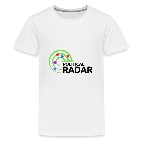 Political Radar Logo - Black - Kids' Premium T-Shirt