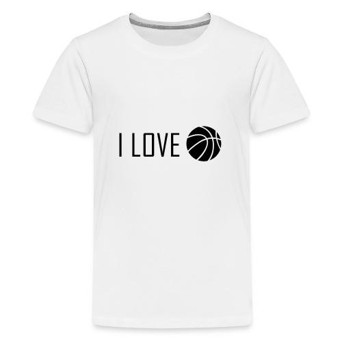 I Love Basketball - Kids' Premium T-Shirt