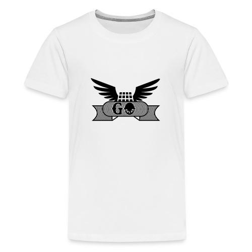 Wings with panel black - Kids' Premium T-Shirt