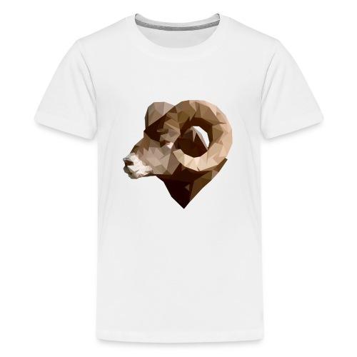 Manni the RAM Polygon - Kids' Premium T-Shirt