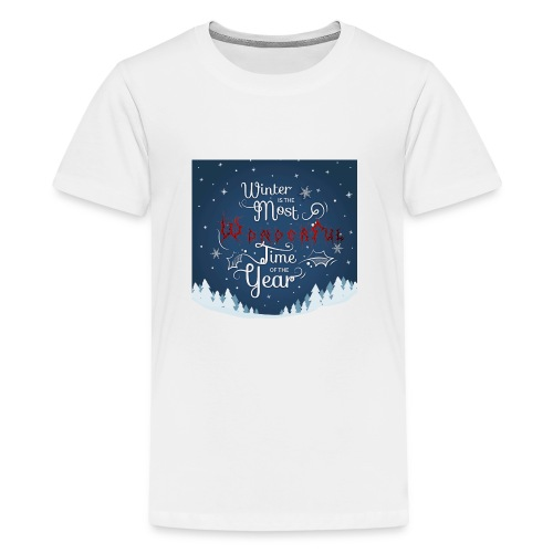Winter Theme - Kids' Premium T-Shirt