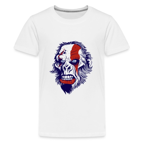 funny t shirt design with gorilla - Kids' Premium T-Shirt
