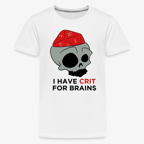 Crit For Brains - Kids' Premium T-Shirt