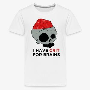 Crit For Brains - Kids' Premium T-Shirt