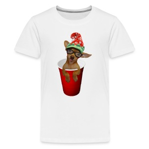 Pup in a cup Elf on the shelf who? lol - Kids' Premium T-Shirt