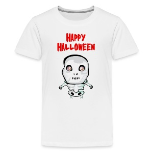 Happy Halloween T-Shirt skull - Kids' Premium T-Shirt