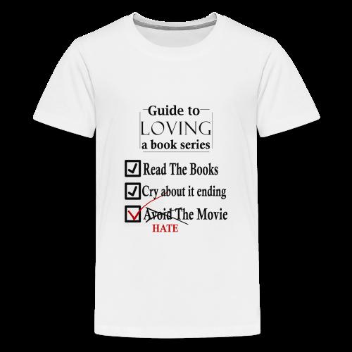 Guide To Loving A Book Series (Black) - Kids' Premium T-Shirt