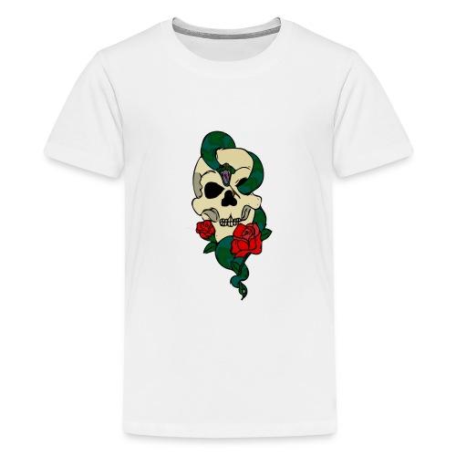 Skull and rose - Kids' Premium T-Shirt