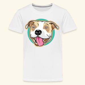 Cute Pitbull Pet Dog - Kids' Premium T-Shirt