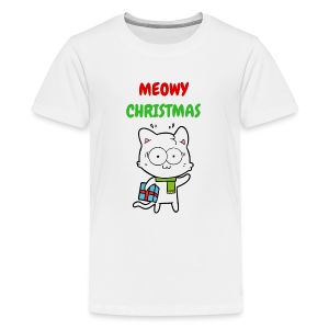 MEOWY CHRISTMAS HOLIDAY CAT - Kids' Premium T-Shirt