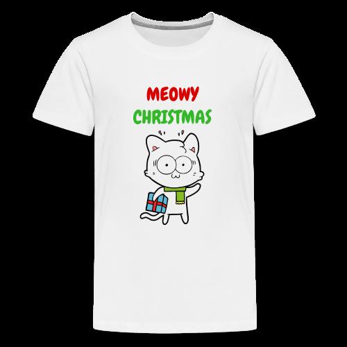 MEOWY CHRISTMAS HOLIDAY CAT - Kids' Premium T-Shirt