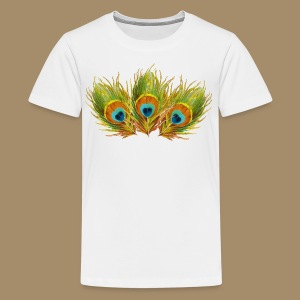 Peacock Feathers - Kids' Premium T-Shirt