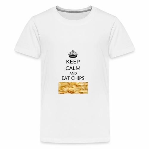 KEEP CALM AND EAT CHIPS MERCHANDISE - Kids' Premium T-Shirt