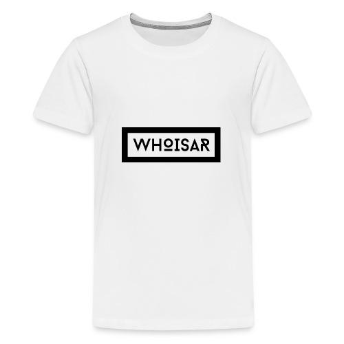 white logo dark background - Kids' Premium T-Shirt
