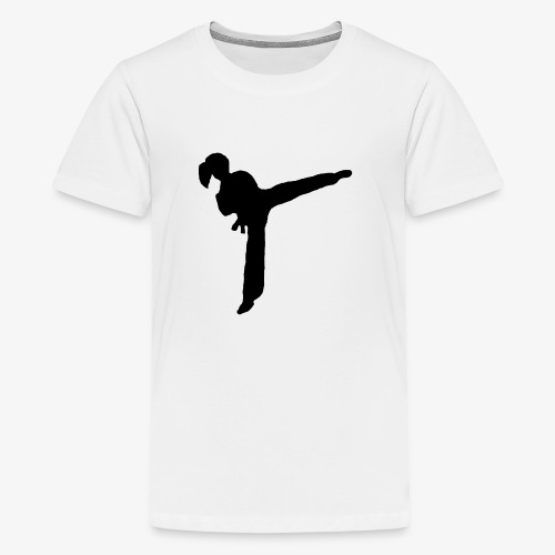 Girl Kicking - Kids' Premium T-Shirt