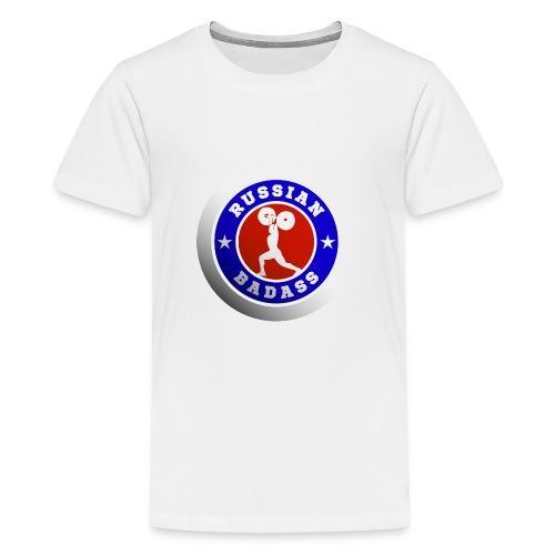 RUSSIAN BADASS POWER LIFTER - Kids' Premium T-Shirt