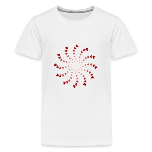 heart spiral - Kids' Premium T-Shirt
