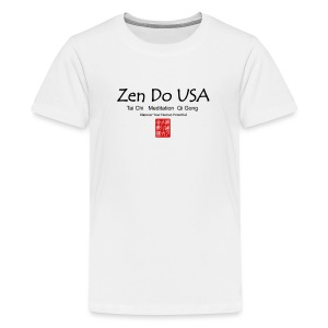 Zen Do USA logo and cell phone clothing busshist - Kids' Premium T-Shirt