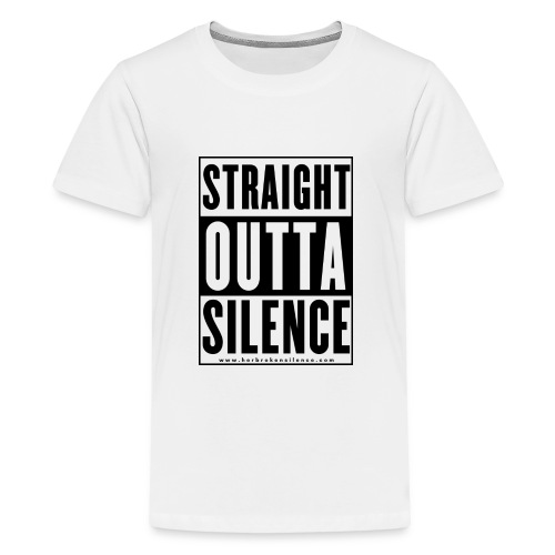 Straight Outta Silence Black - Kids' Premium T-Shirt