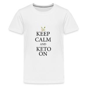 Keto keep calm - Kids' Premium T-Shirt