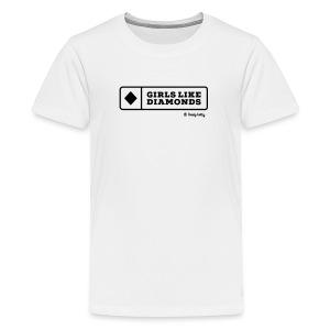 dustybetty Black Girls Like Diamonds design - Kids' Premium T-Shirt