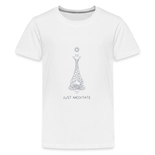 Meditating Giraffe - Kids' Premium T-Shirt