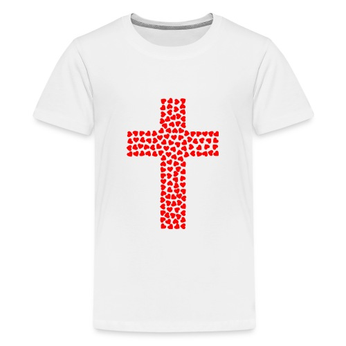 Cross with hearts - Kids' Premium T-Shirt