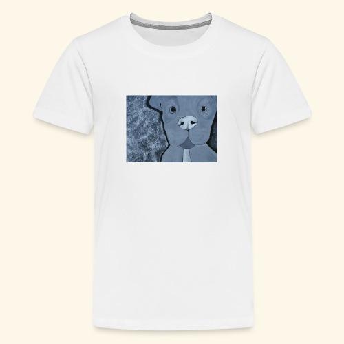 Black n White Pup - Kids' Premium T-Shirt