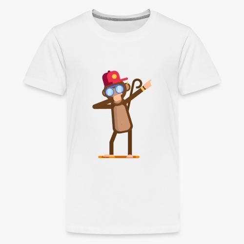 Animal doing dabbing movement - monkey - Kids' Premium T-Shirt