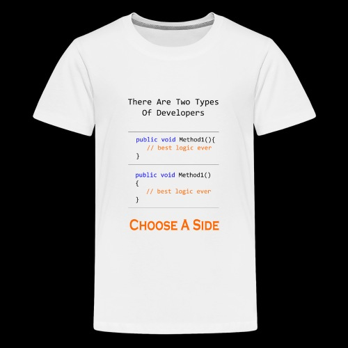 Code Styling Preference Shirt - Kids' Premium T-Shirt