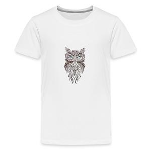 tatouage ephemere hibou tribal - Kids' Premium T-Shirt