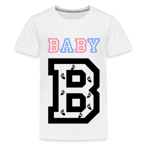Twins- baby gender reveal for baby B - Kids' Premium T-Shirt