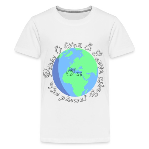 Peace and war and love on the planet earth - Kids' Premium T-Shirt