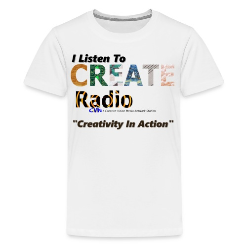 I Listen To CREATE Radio - Kids' Premium T-Shirt