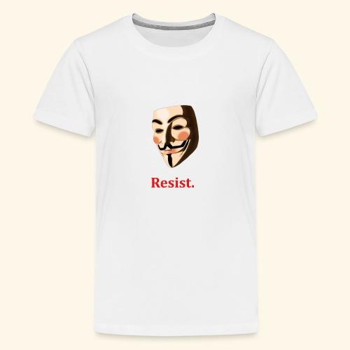Guy Fawkes. Resist. - Kids' Premium T-Shirt