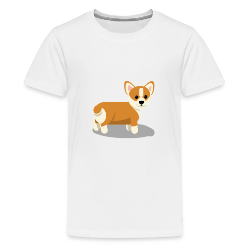 cute corgi - Kids' Premium T-Shirt