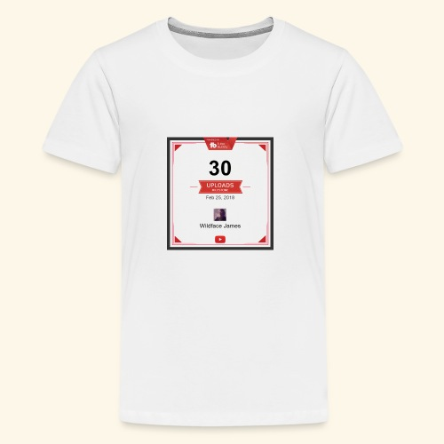 My youtube channel 30 uploads achievement - Kids' Premium T-Shirt
